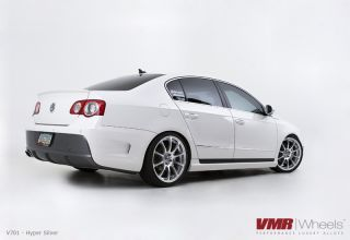 19x8 5 VMR 701 Hyper Silver Wheel 5x112 Fit VW CC Golf GTI Jetta