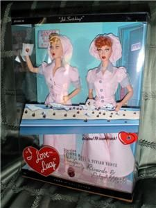 Barbie I Love Lucy Ethel Job Switching Doll Set