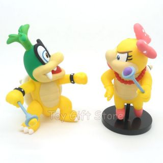 Super Mario Bros Wii Iggy Koopa WendyO Koopa Posable Action Figure