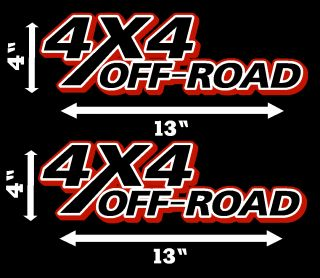 4x4 Decals 4 x 13 Decal Truck Graphic Sticker Dodge Chevy Ford
