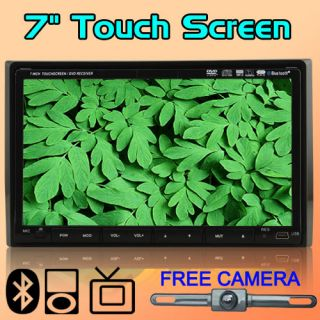 HD LCD In Deck 7 Touch Screen Stereo Car DVD Player Radio Bluetooth TV