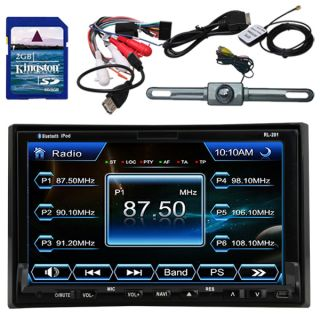 Ui 7Touch Screen 2Din in Dash Car DVD Player GPS Camera