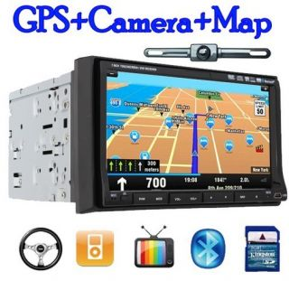 Touch Screen 7in Dash Car Stereo GPS Navigation Camera