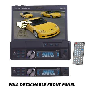 Single DIN in Dash Motorized Touch Screen TFT LCD Monitor