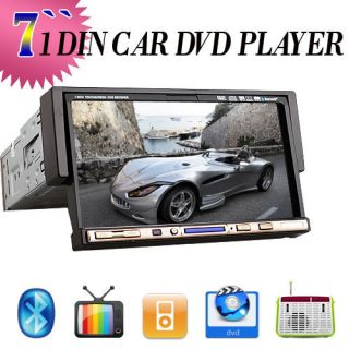 Single DIN in Dash Car Stereo DVD Player BT TV iPod Radio US