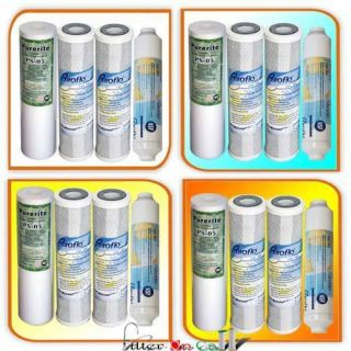 Osmosis Sediment Carbon GAC Inline Water Filter Value Pack