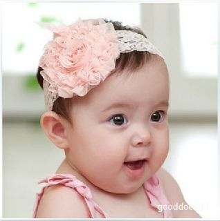 New Baby Girl Infant Toddler Flower Lace Tulle Headband Headwear Hair