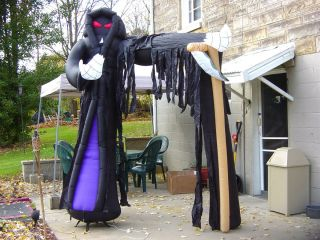 HALLOWEEN GEMMY AIRBLOWN INFLATABLE YARD DECOR GRIM REAPER ARCHWAY