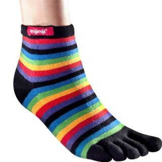 Injinji Socks Original Weight Performance Toe Sock Mini Crew Black