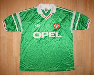 80S ADIDAS IRELAND FA FOOTBALL NATIONAL TEAM JERSEY IRISH XL L SOCCER