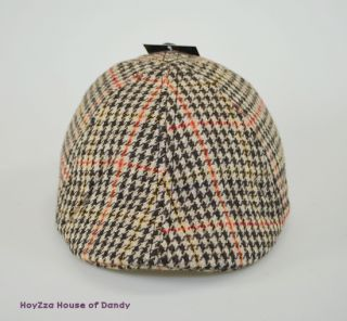 Mens Casual Plaid Ivy Hat Duck Bill Curved Cabbie Drivers Cap 2210 s M