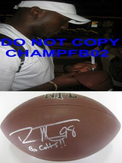 ROBERT MATHIS INDIANAPOLIS COLTS SIGNED AUTOGRAPHED NFL FOOTBALL COA