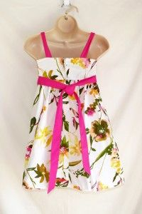 IZ Amy Byer Girls Pink Floral Sleeveless Dress with Flounce Size 10