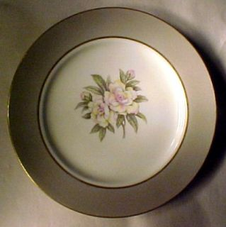 Royal Jackson China Countess Heirloom Gray Dinner Plate