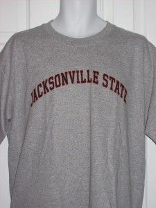 Jacksonville State University Gamecocks Alabama NCAA Logo Gray Shirt