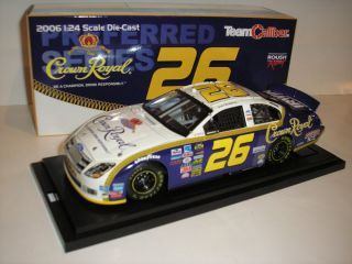 JAMIE McMURRAY NASCAR 1 24 CROWN ROYAL DIECAST CAR TEAM CALIBER FORD