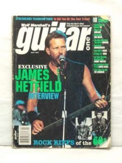 Guitar One Magazine James Hetfield Metallica Very RARE