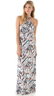 Tbags Los Angeles Printed Halter Maxi Dress