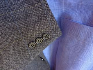 Ermenegildo Zegna Gray Wool Mens Blazer Jacket Sport Suit Coat 44R 44