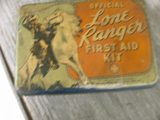 1938 Lone Ranger First Aid Kit with Original Supplies and Handbook