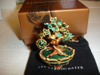 JAY STRONGWATER ~ Swarovski Crystal Jeweled Birthstone Box MAY EMERALD