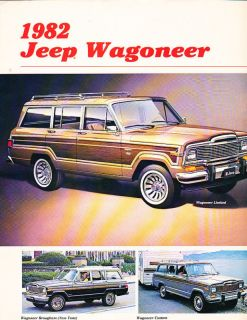 1982 Jeep Grand and Wagoneer Original Sales Brochure Brougham
