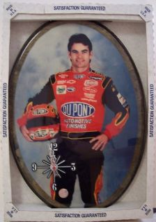 Jeff Gordon NASCAR Wooden Wall Clock US Made