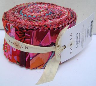 Fassett CLASSICS RED #2 Design Roll 2.5 Fabric Strips Jelly Roll