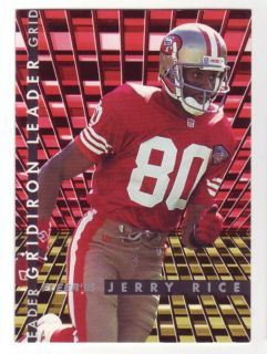 Jerry Rice 1995 Fleer Gridiron Leader 4