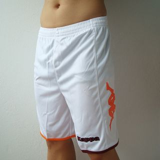 Kappa Mens Football Soccer Jersey Shorts White M L XL