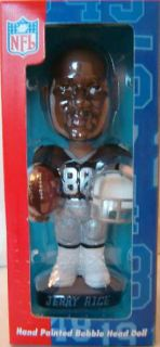 Jerry Rice Bobblehead Oakland Raiders Bobble Head New