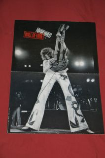 LED Zeppelin Jimmy Page Poster Vintage Guitar World Poster