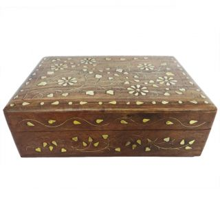 Vintage Style Small Wooden Jewelry Wood Box Storage Trunk SWB14A