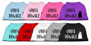 Ghost Hunter Pet Dog Shirt Clothes Great for Halloween