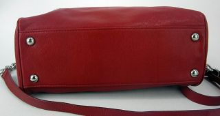 Michael Kors Womens Handbag Red Joan Leather Knox Large Satchel Purse