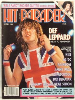 Hit Parader Magazine Joe Elliott Def Leppard Kiss AC DC Jimmy Page Pat