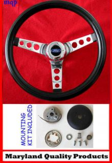 New 1960 1962 Ford Falcon Grant Black Steering Wheel