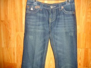 True Religion Joey Rainbow Low Rise Boot Cut Womens Jeans Size 29x32