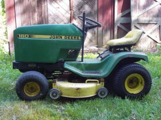 John Deere 160 Lawn Tractor Riding Mower NDS Work