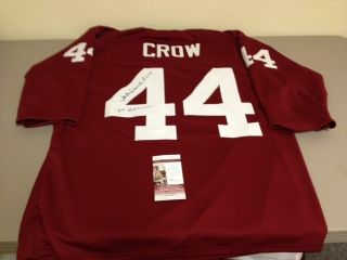 JOHN DAVID CROW AUTOGRAPHED TEXAS A M MAROON THROWBACK FOOTBALL JERSEY