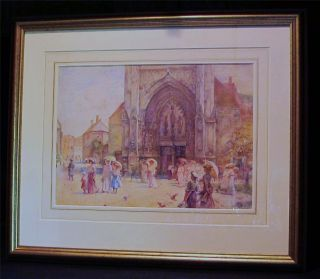 John Parker R w s 1839 1915 Very Fine Early Watercolor Signed and Dated 1910