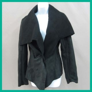 John Paul Richard Women's Frock Closure Jacket Black Lam Luxury XLarge $45 Jmto