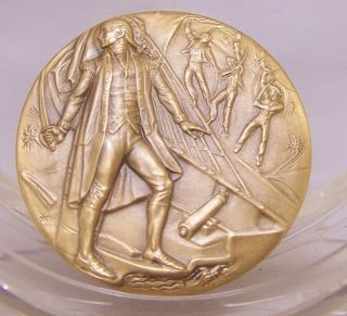 JOHN PAUL JONES Medallic Art Hall of Fame for Great Americans at NYU Bronze