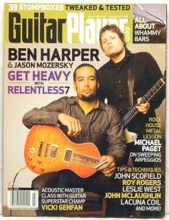 Guitar Player Magazine Ben Harper Jason Mozersky John McLaughlin Roy Rogers RARE