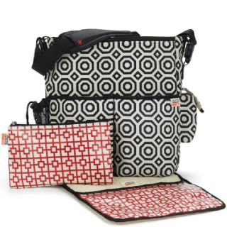 Jonathan Adler Skip Hop Duo Wave Diaper Bag Girl Multi color Modern Designer Bag