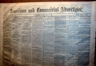 1863 Civil War Newspaper Stonewall Jackson Wounded in Battle of Chancellorsville