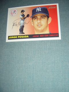 Jorge Posada RARE 2004 Topps Heritage Card Short Printed Only One on