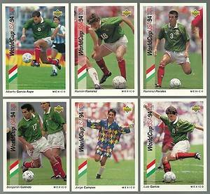 1993 94 Upper Deck World Cup Soccer 6 card Mexico Lot Jorge Campos Luis Garcia