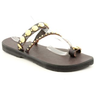 JP Mattie Patricia Womens 8 Brown Leather Flip Flops Sandals Shoes New Display