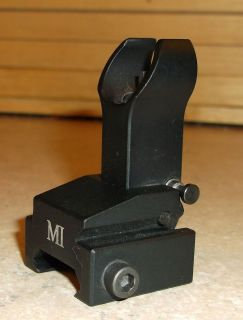 Midwest Industries Front Rifle Sight Gas Block Black Low Profile Flip